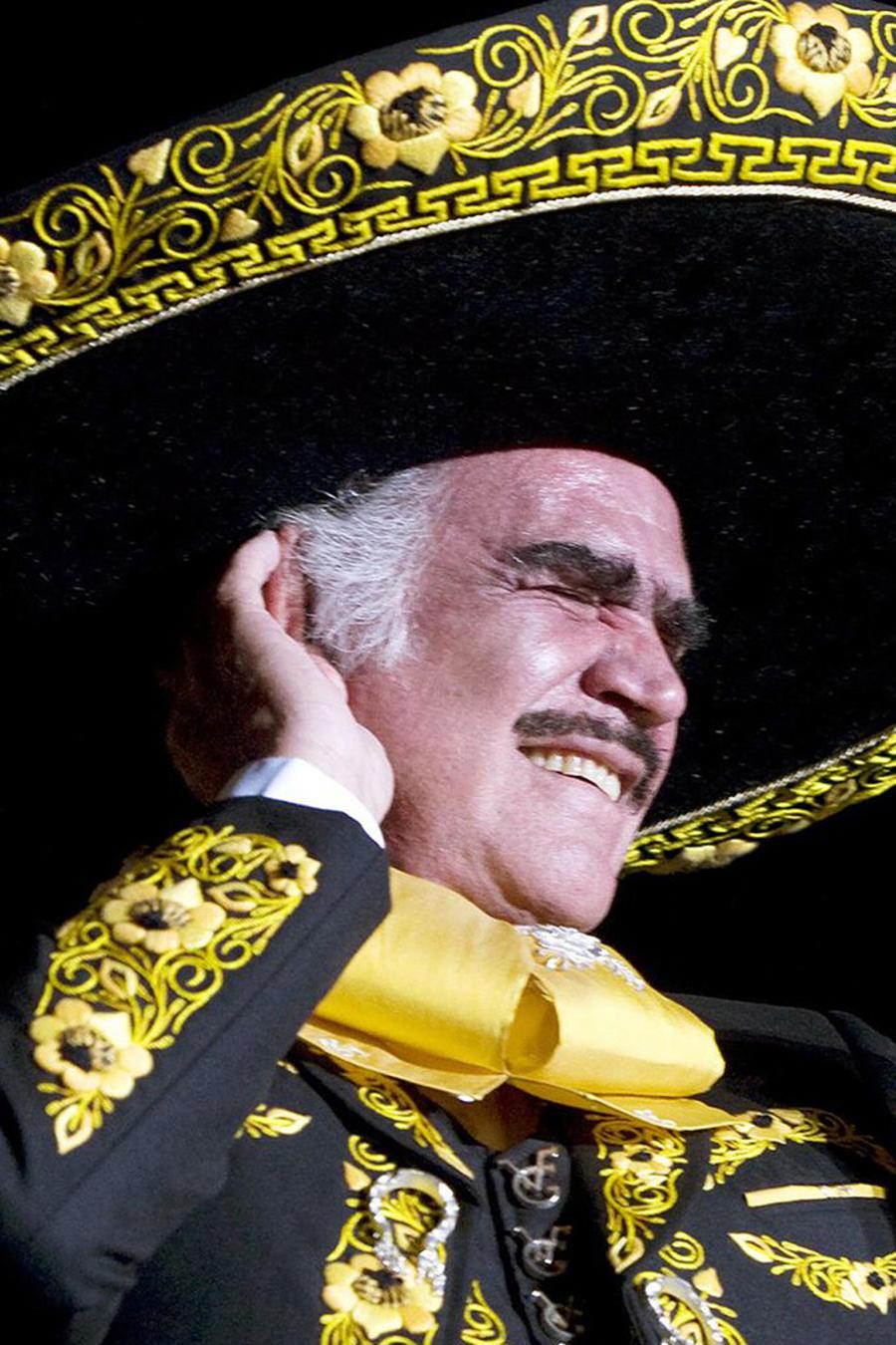 Vicente Fernández durante una presentación en Guadalajara, en 2008.