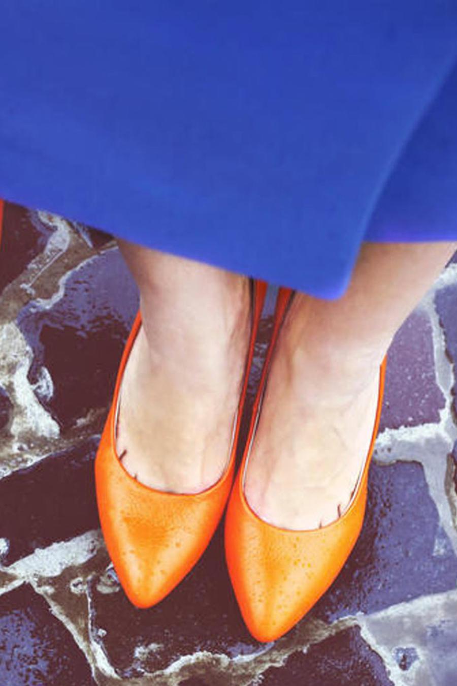 Zapatos y cartera de mujer