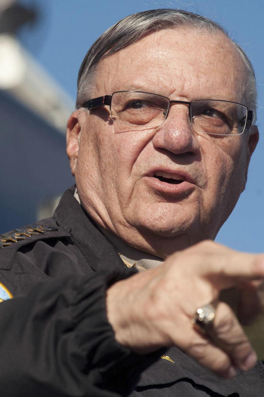 Foto de archivo tomada en el año 2013 durante un anuncio del entonces alguacil del condado Maricopa en Arizona, Joe Arpaio.