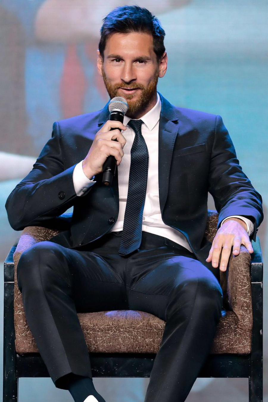 Lionel Messi a través de la cuenta de Twitter de Armani en 2017.