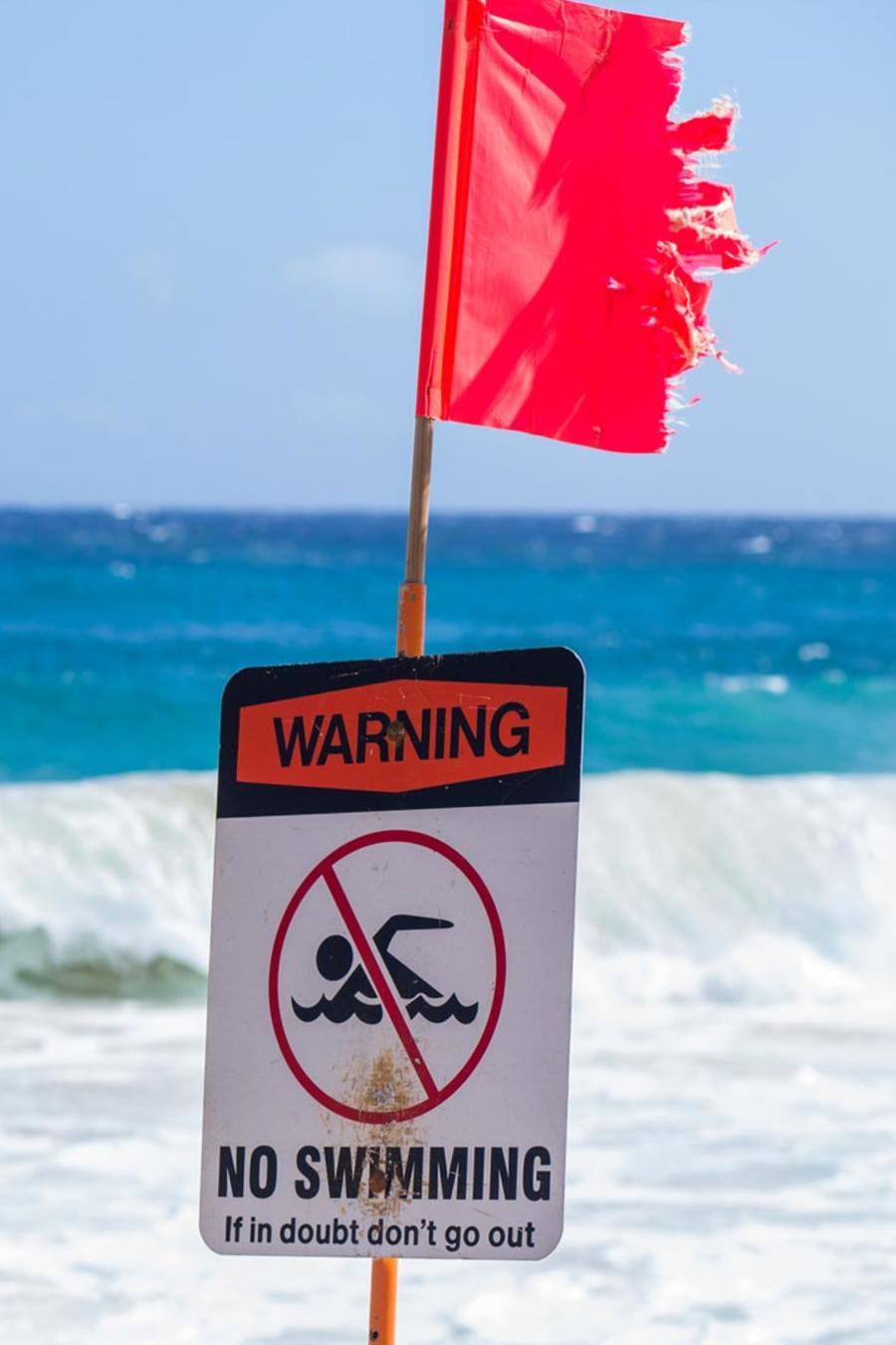 playa peligrosa para nadar
