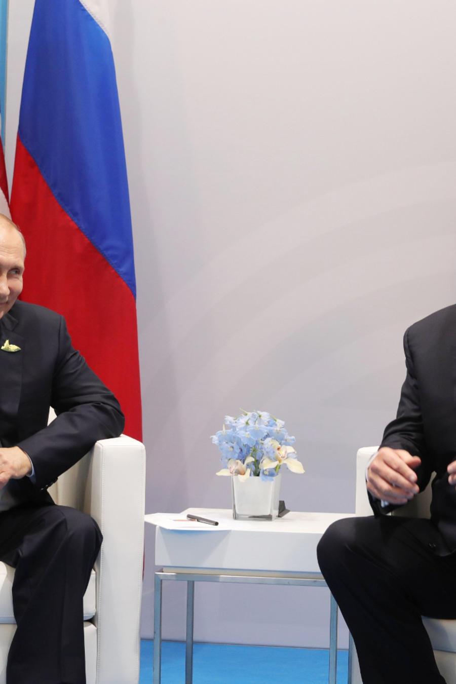 Putin y Trump en su primer encuentro durante la Cumbre del G20.