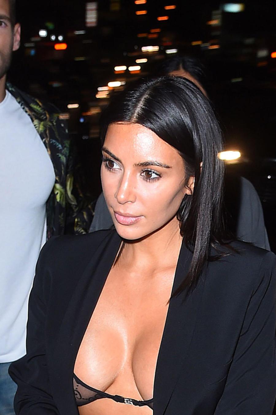 Kim Kardashian salió a cenar en Nueva York