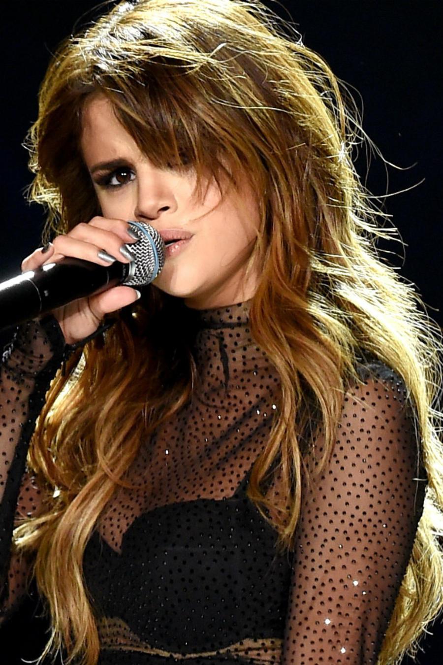 Selena Gomez durante un concierto en Staples Center en 2016.