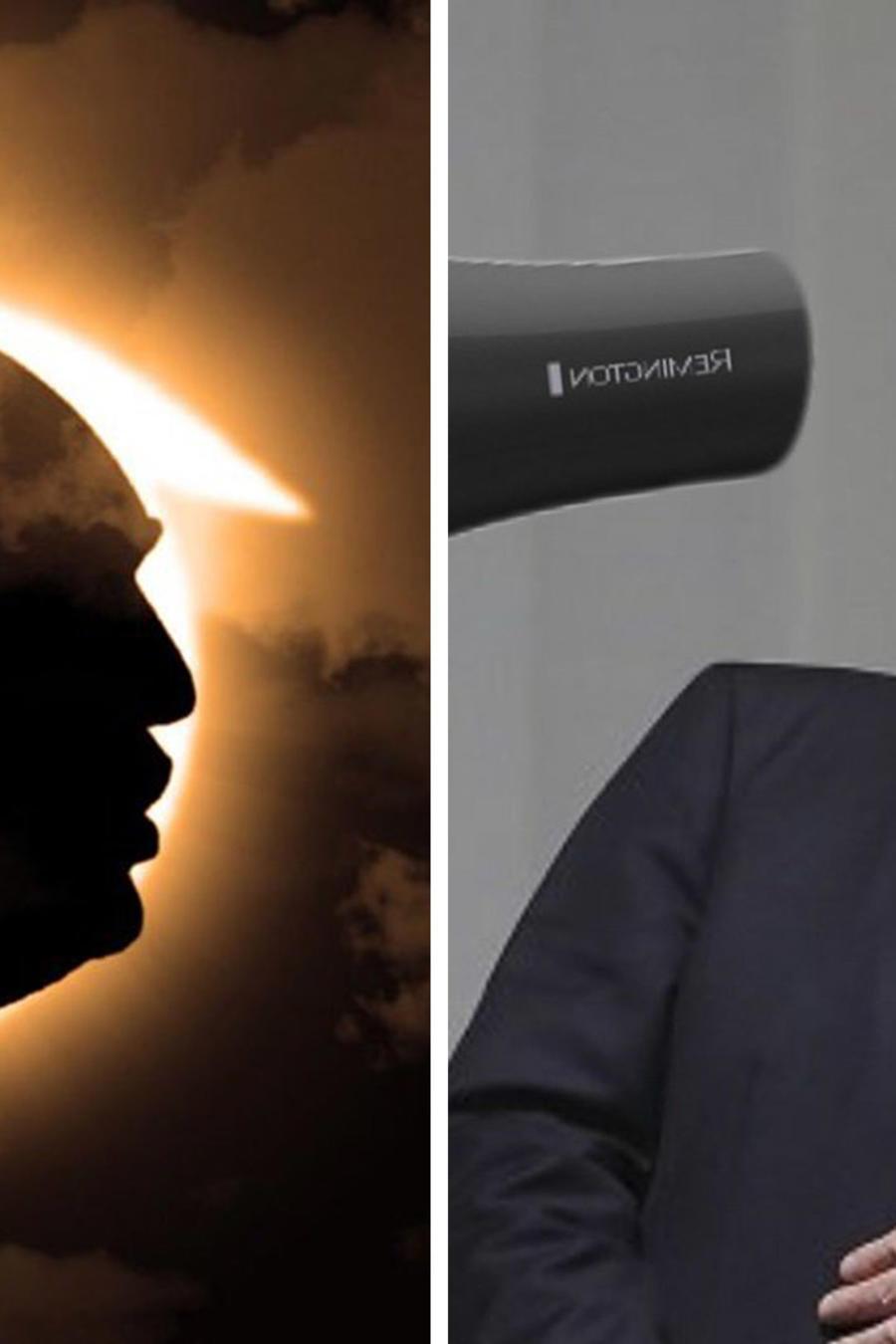 Los memes de Donald Trump y el eclipse solar