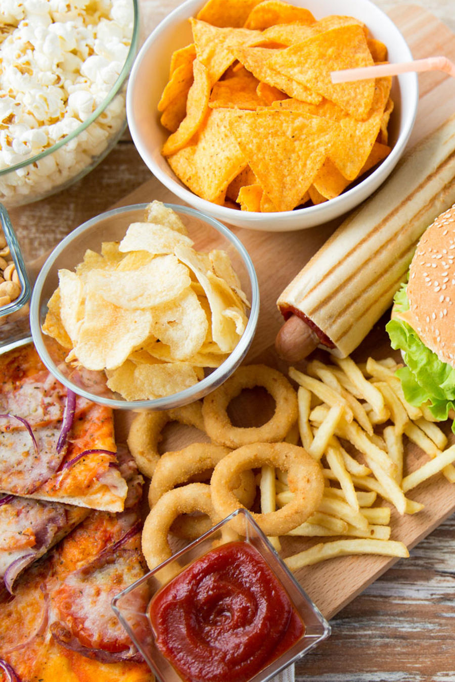 Variedad comida chatarra
