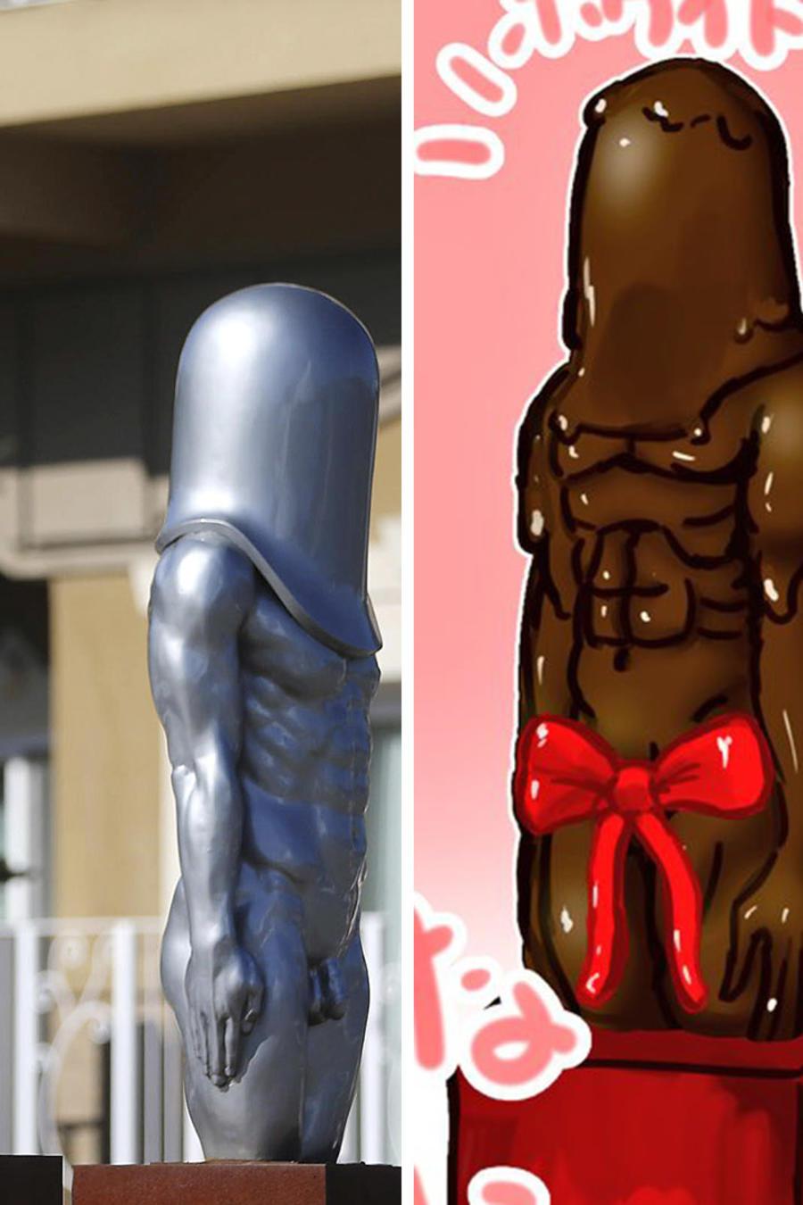 Estas estatuas son las nuevas víctimas de los memes