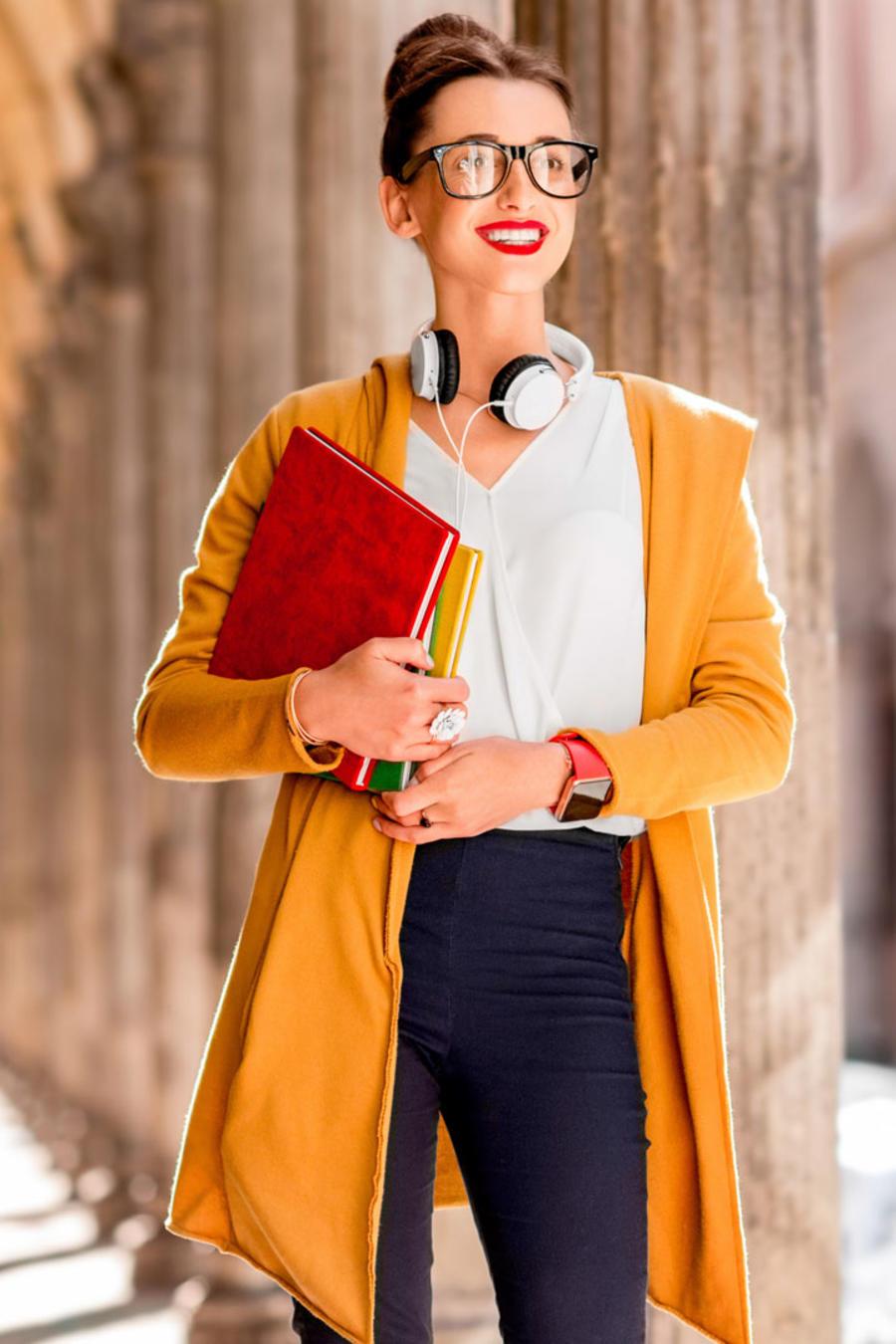 Joven estudiante en Bologna