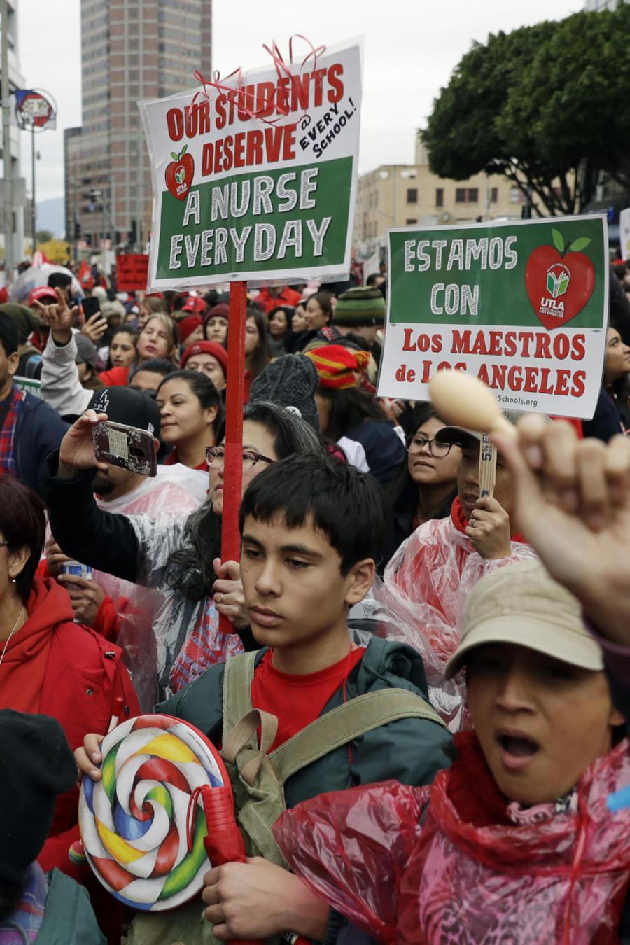 Huelga de maestros Los Ángeles