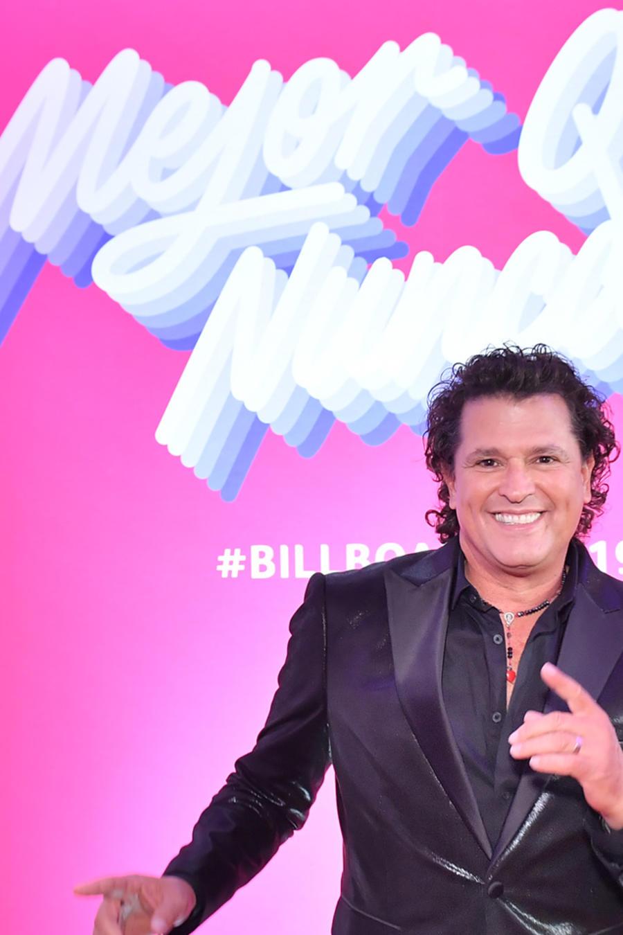 Carlos Vives en la alfombra roja de los Premios Billboard 2019