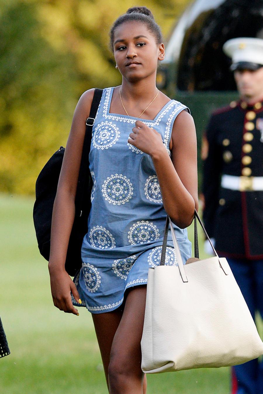 Malia y Sasha Obama ropa jean