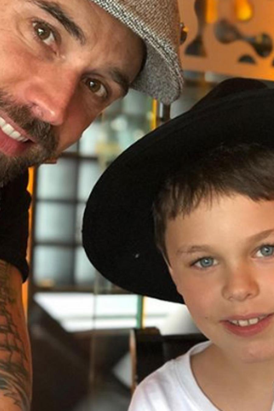 Matías Novoa con su hijo Axel