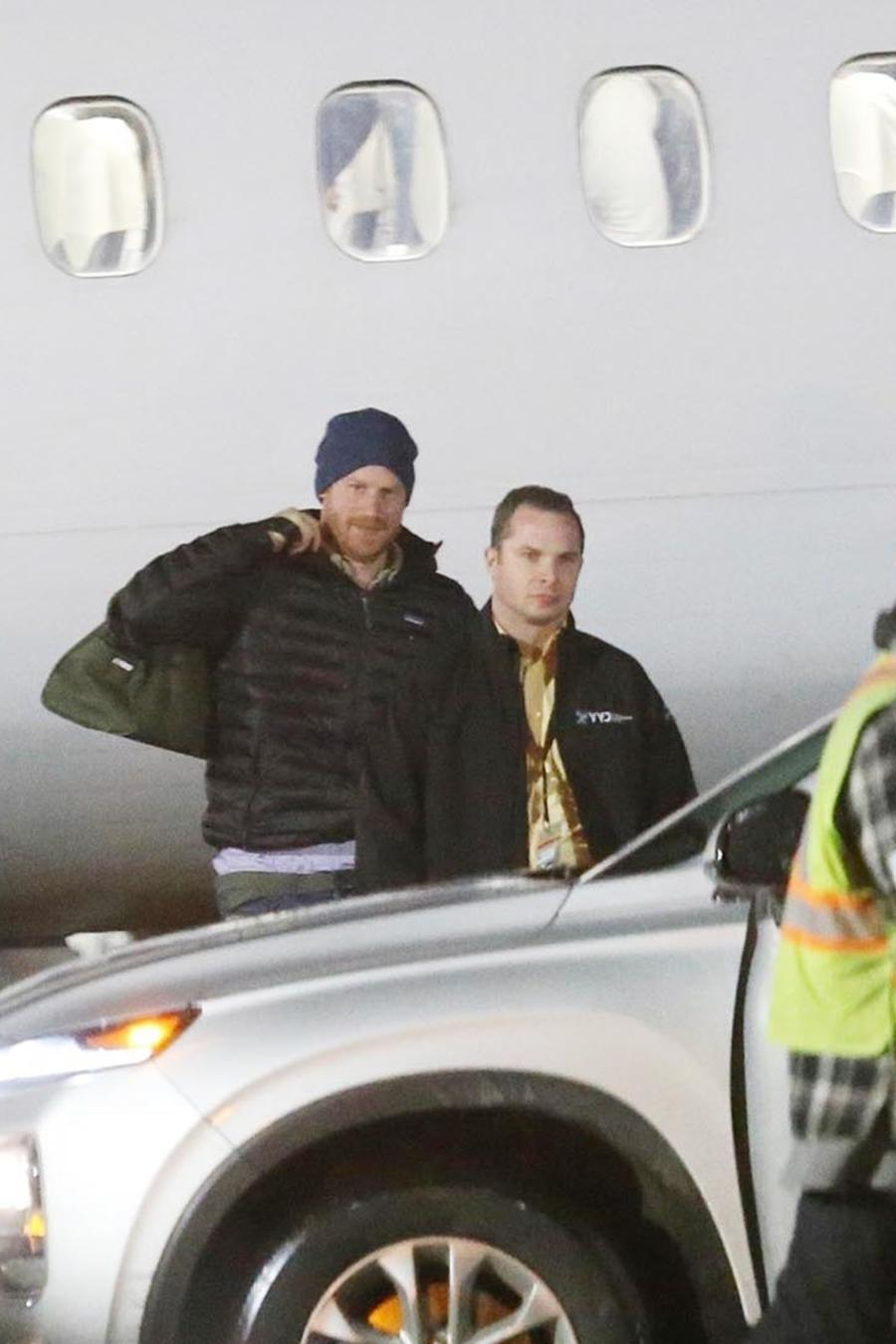 Principe Harry llegando a Canadá