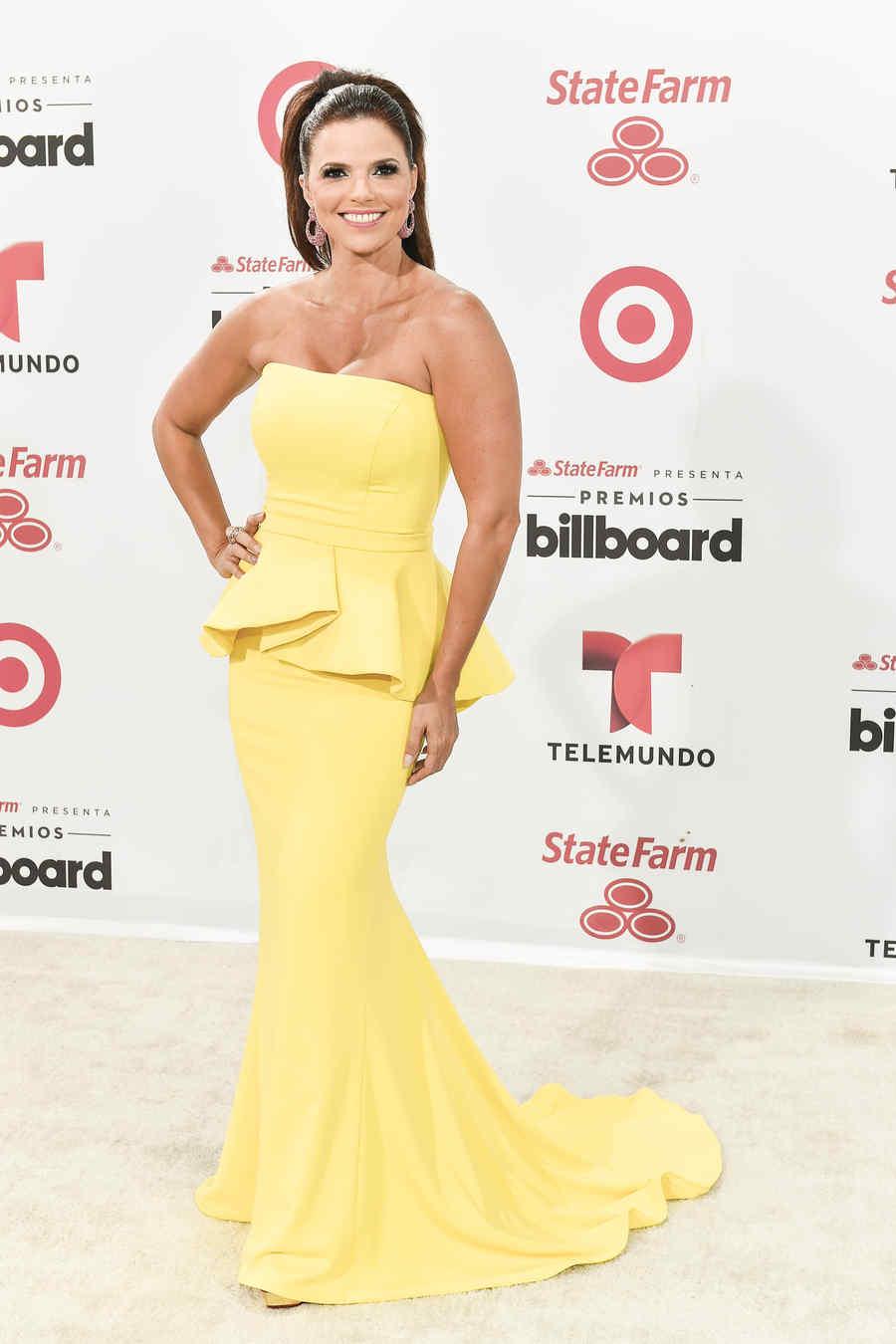 Rashel Díaz en la alfombra blanca de Premios Billboard 2015