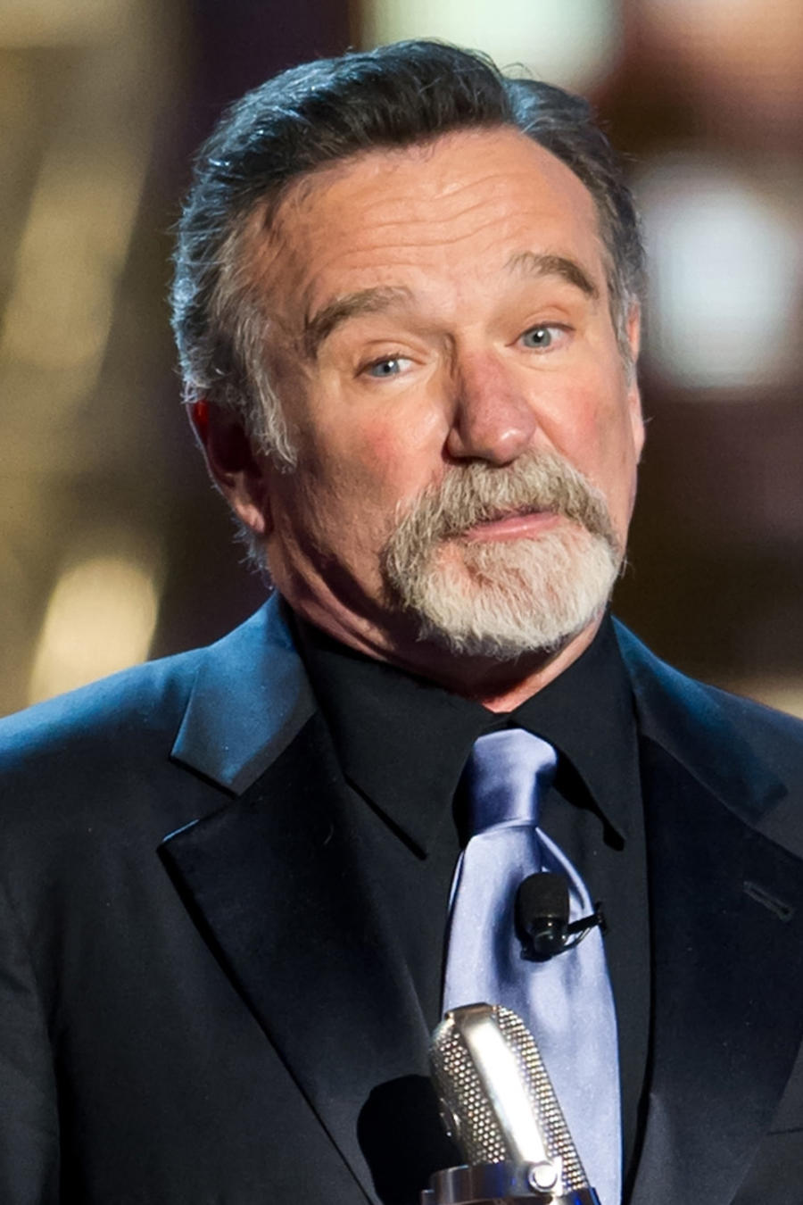 Collage de Robin Williams antes y después.