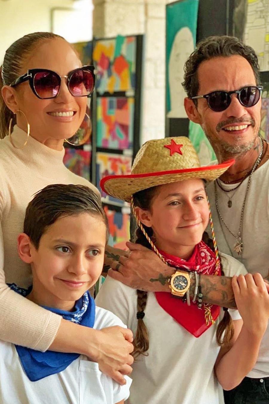 Jennifer Lopez, Marc Anthony, Demi Moore y Bruce Willis