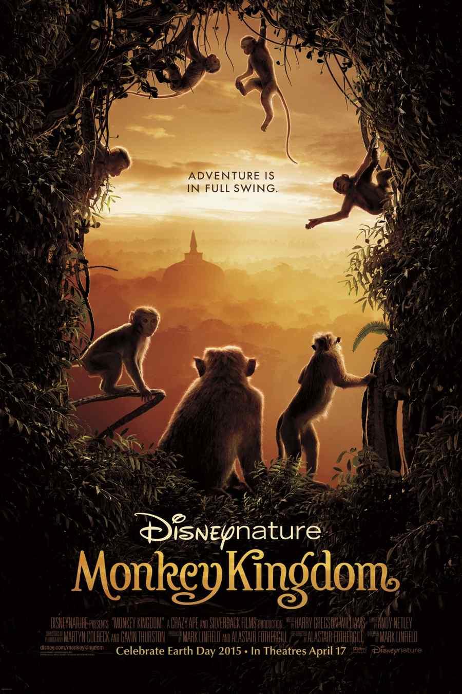 "Póster de la película ""Monkey Kingdom""."