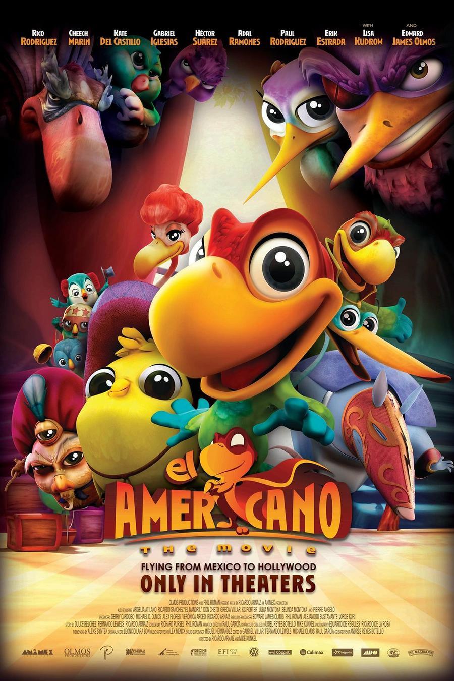 """Póster de la película """"El Americano: The Movie""""."""