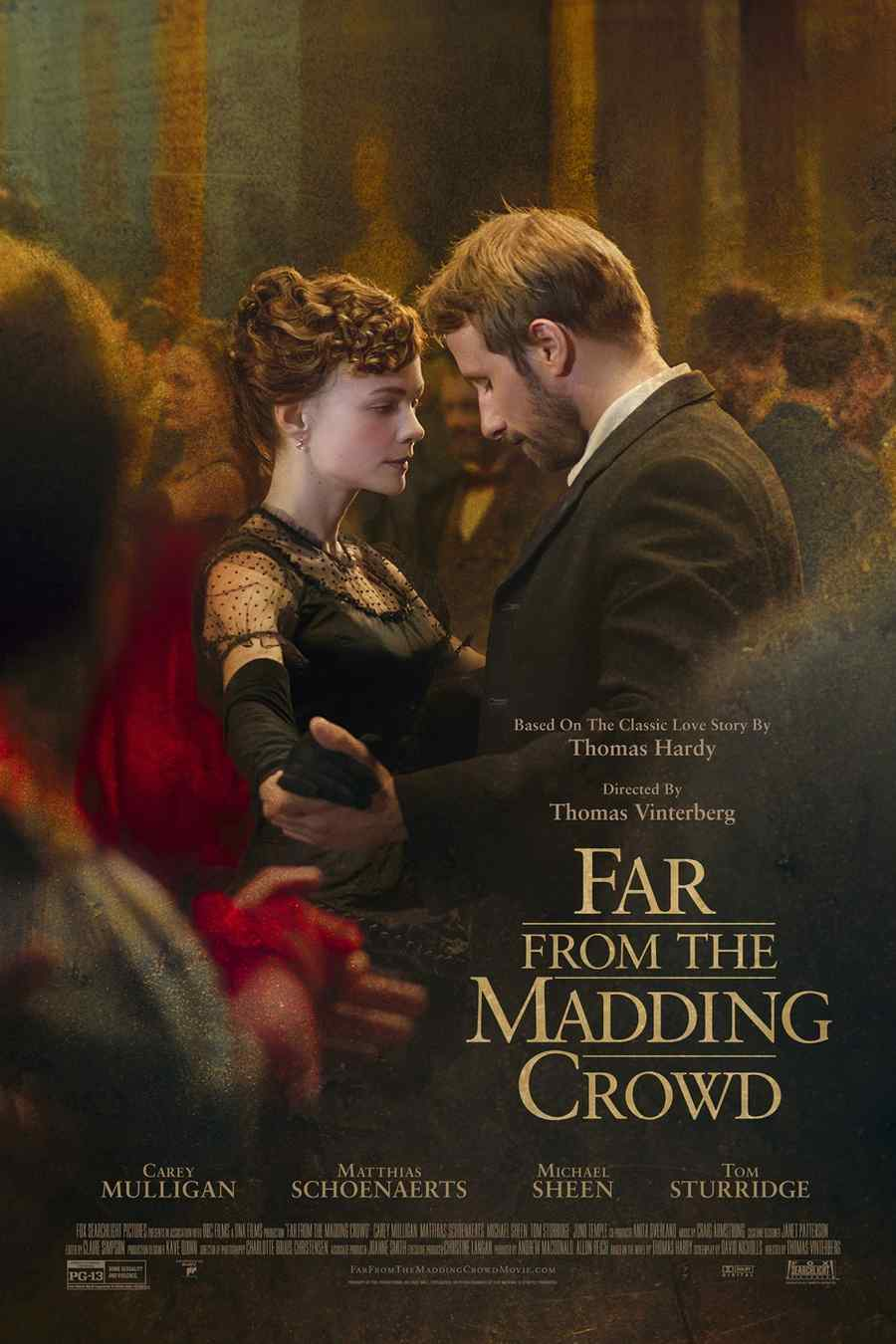"Póster de la película ""Far from the Madding Crowd""."