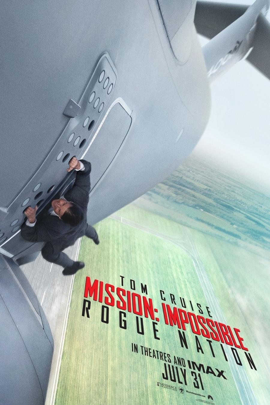 """Póster de la película """"Mission: Impossible - Rogue Nation""""."""