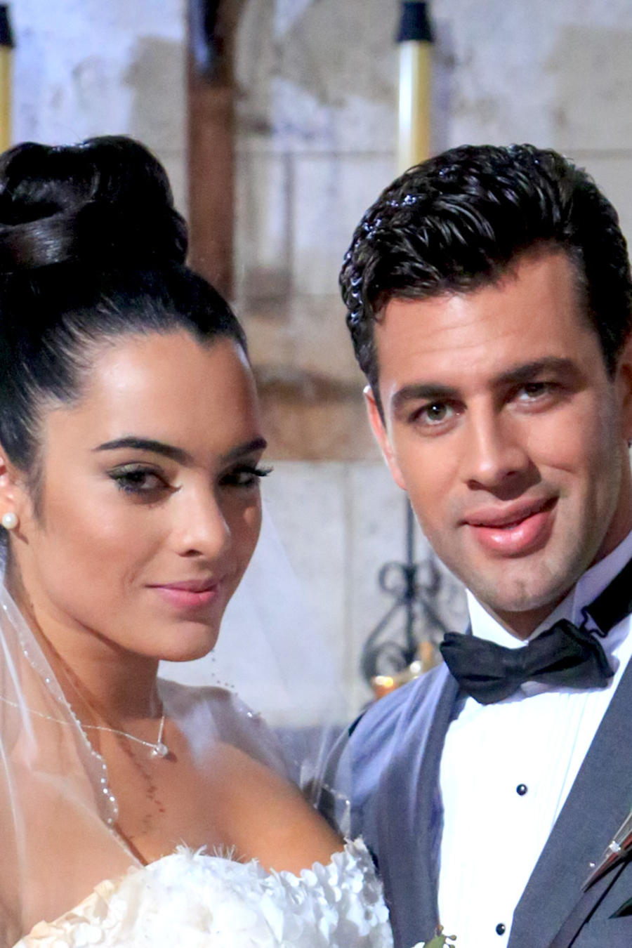 Scarlet Gruber y Christian de la Campa casándose en Tierra de Reyes
