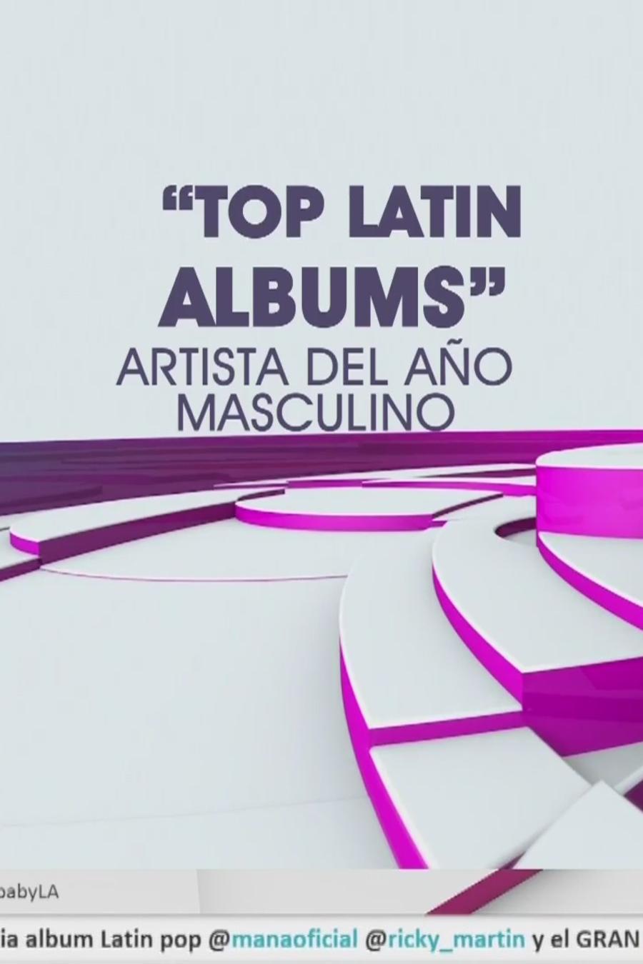 Top Latin Albums, Artista del Año Masculino