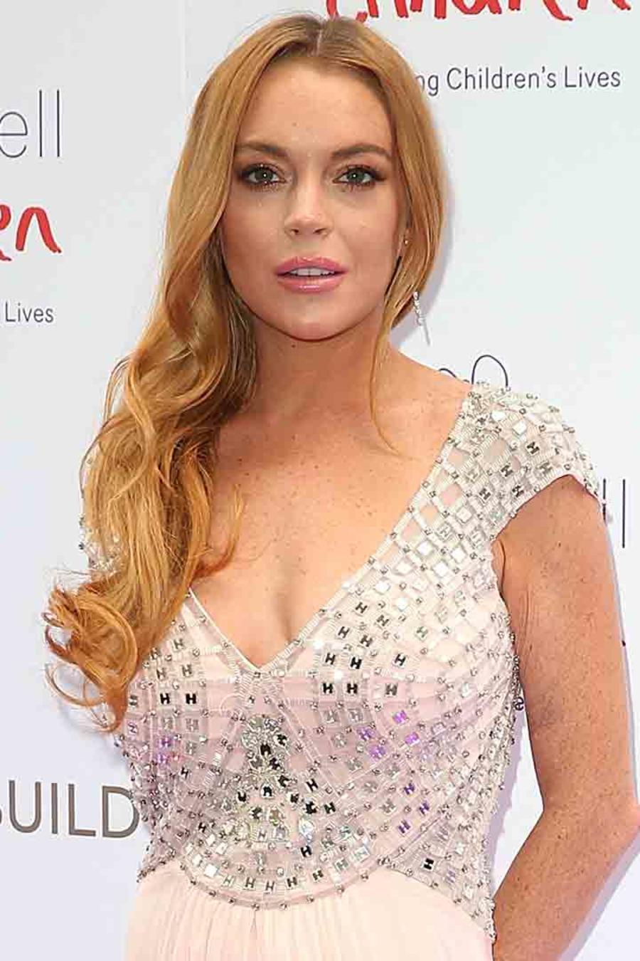 Lindsay Lohan en la alfombra roja de Butterfly Ball 2016