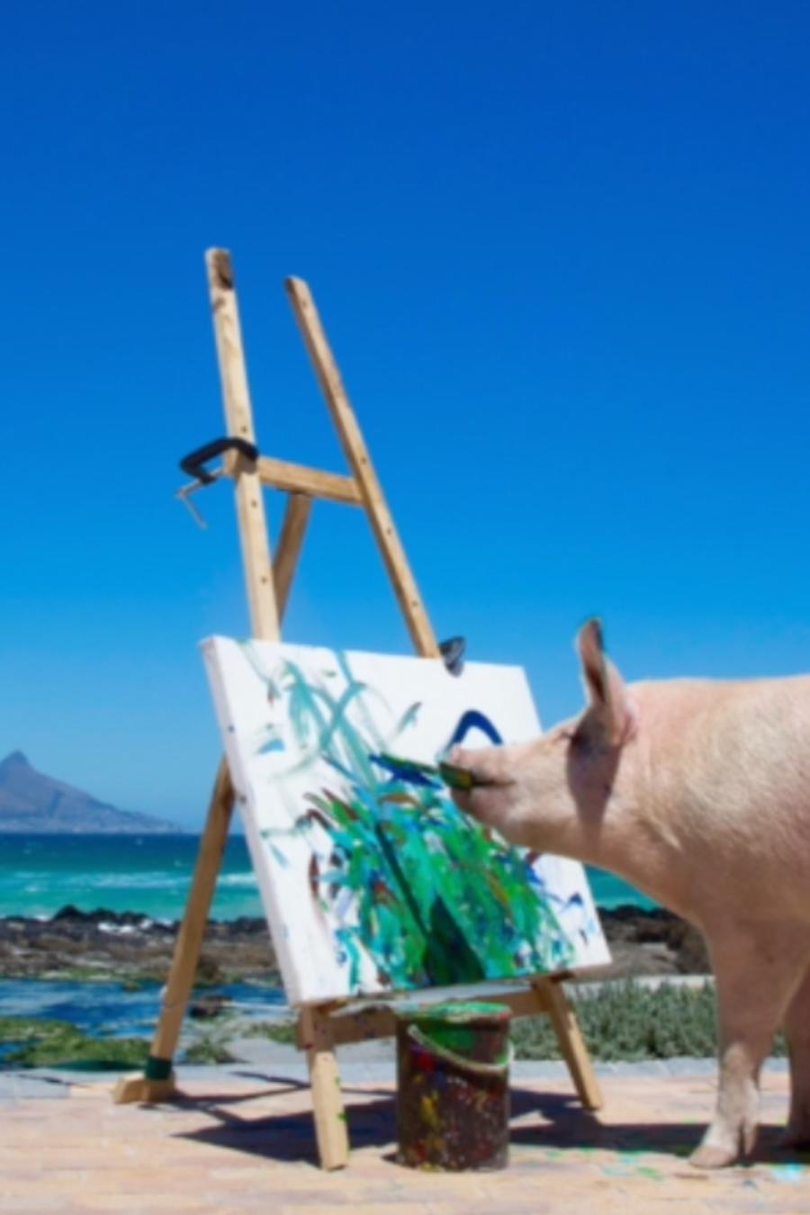 Picasso, la cerda pintora