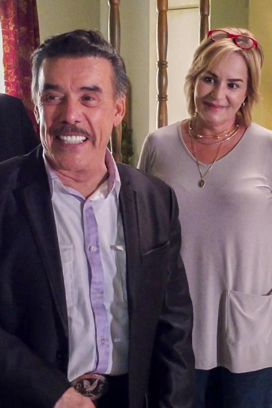 Don Pedro Rivera en los sets de Mariposa de Barrio