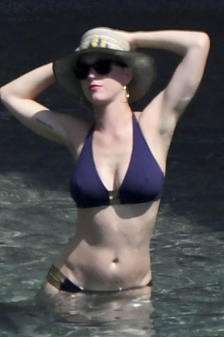 Katy Perry en bikini en la playa