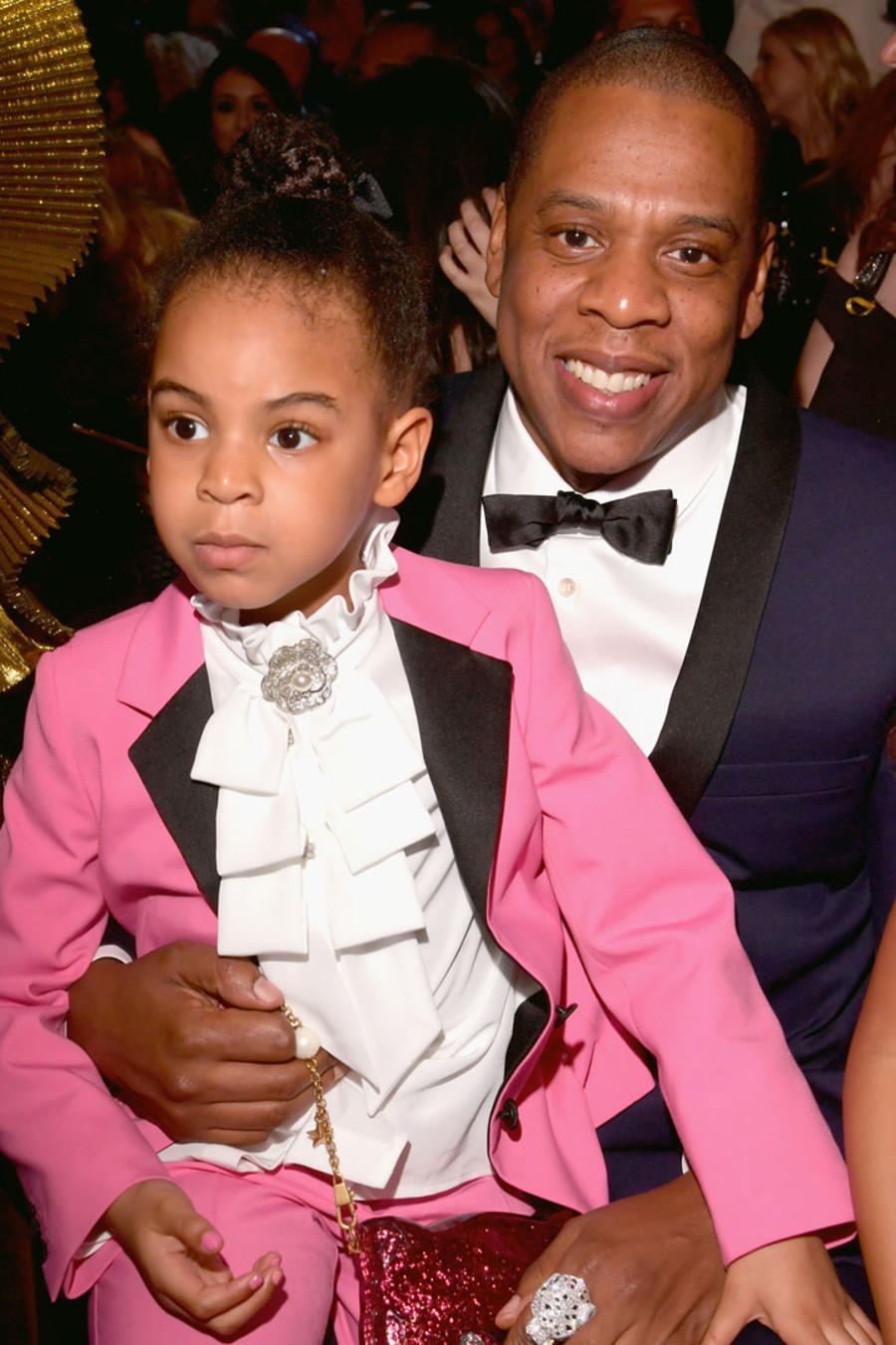 Blue Ivy con Jay Z, y Julez con Tina Knowles