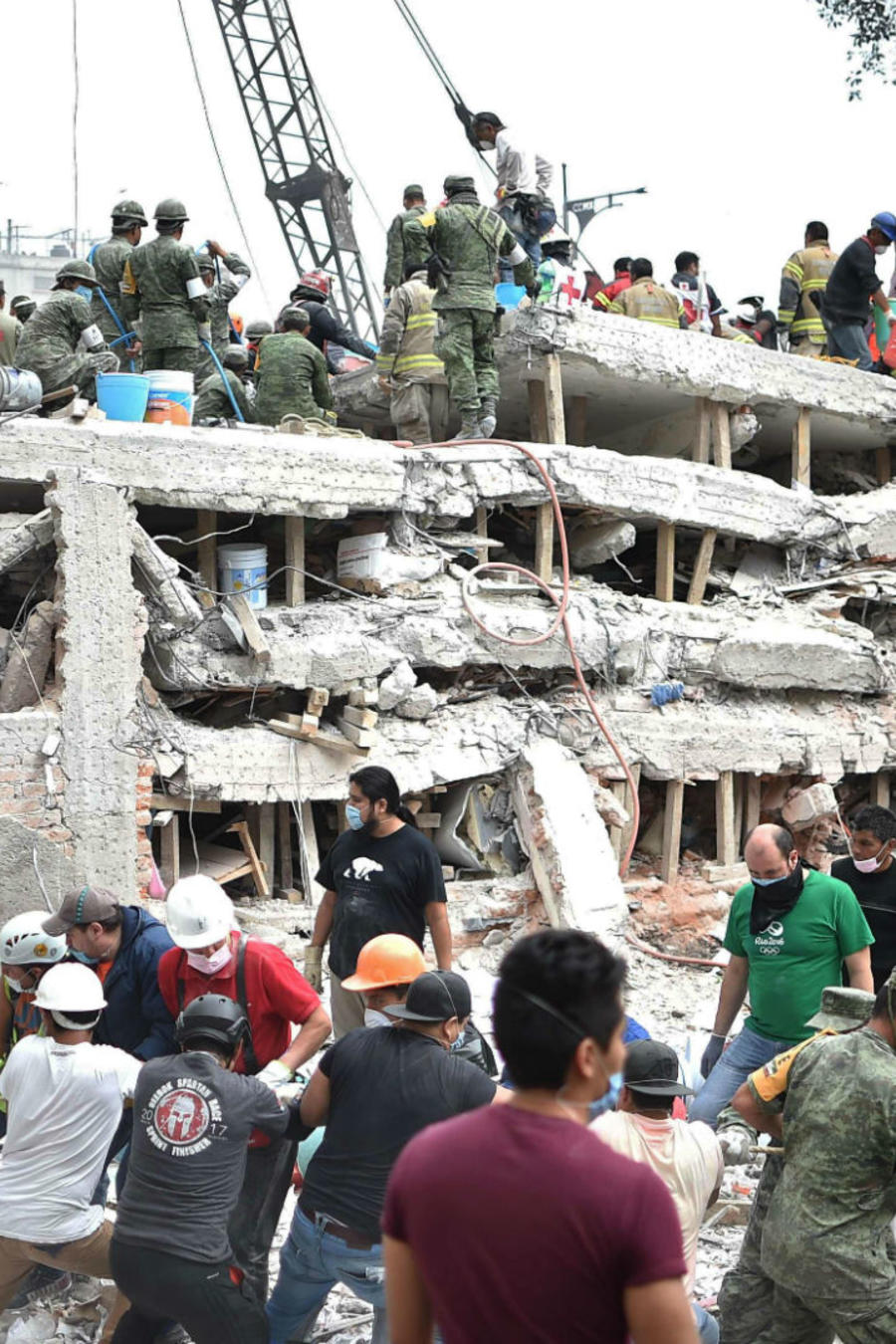 Edificios caídos en la Ciudad de México después del sismo