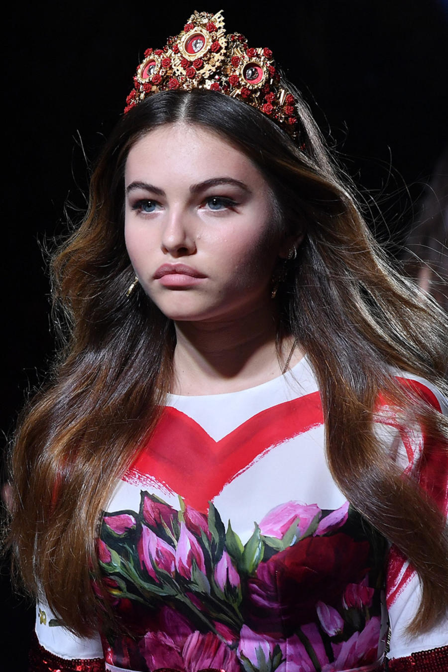 Thylane Blondeau en la Milan Fashion Week 2017