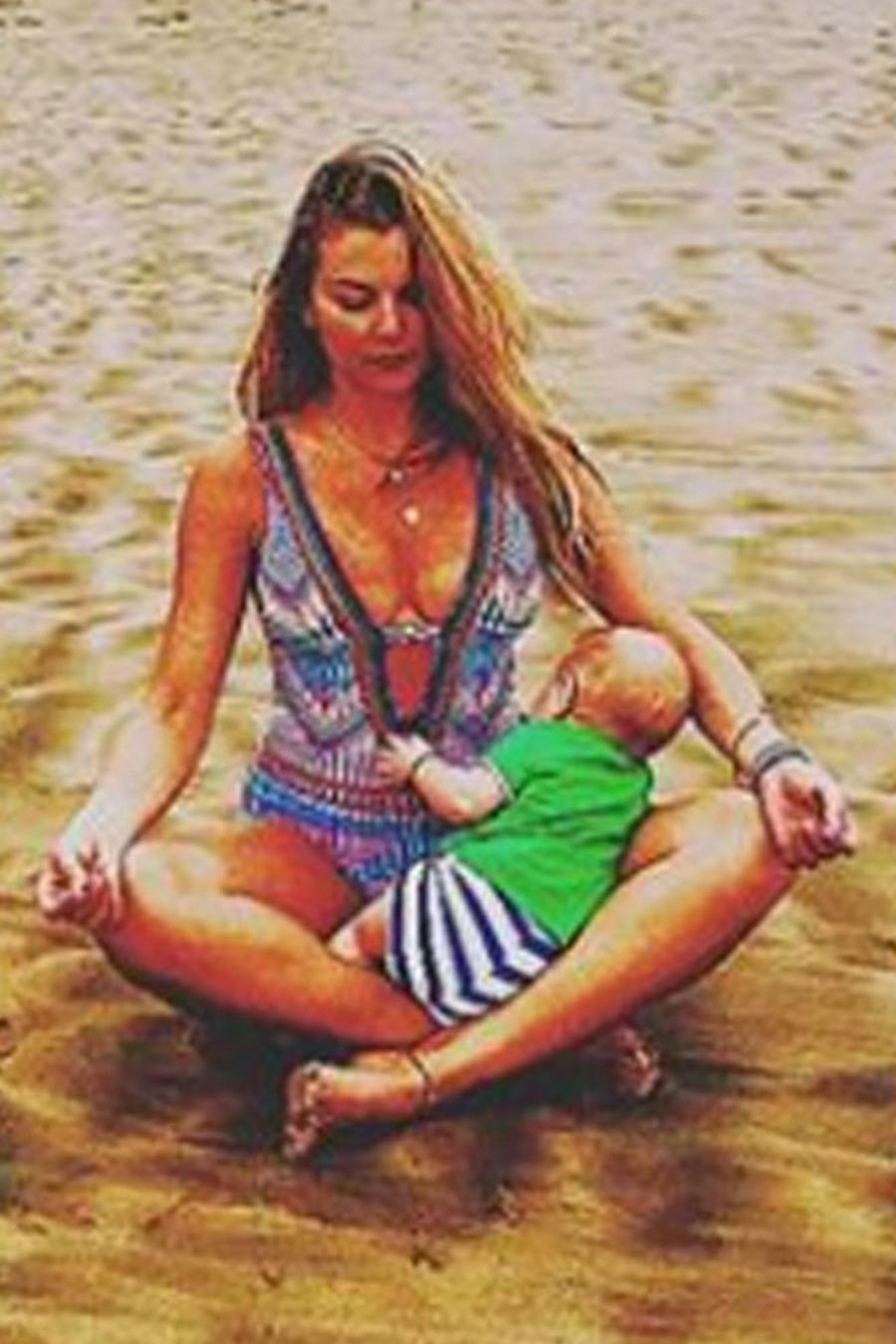 Marjorie de Sousa hace reír a carcajadas a su bebé