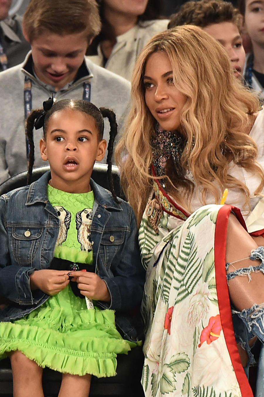 Beyoncé con Blue Ivy y Jay-Z