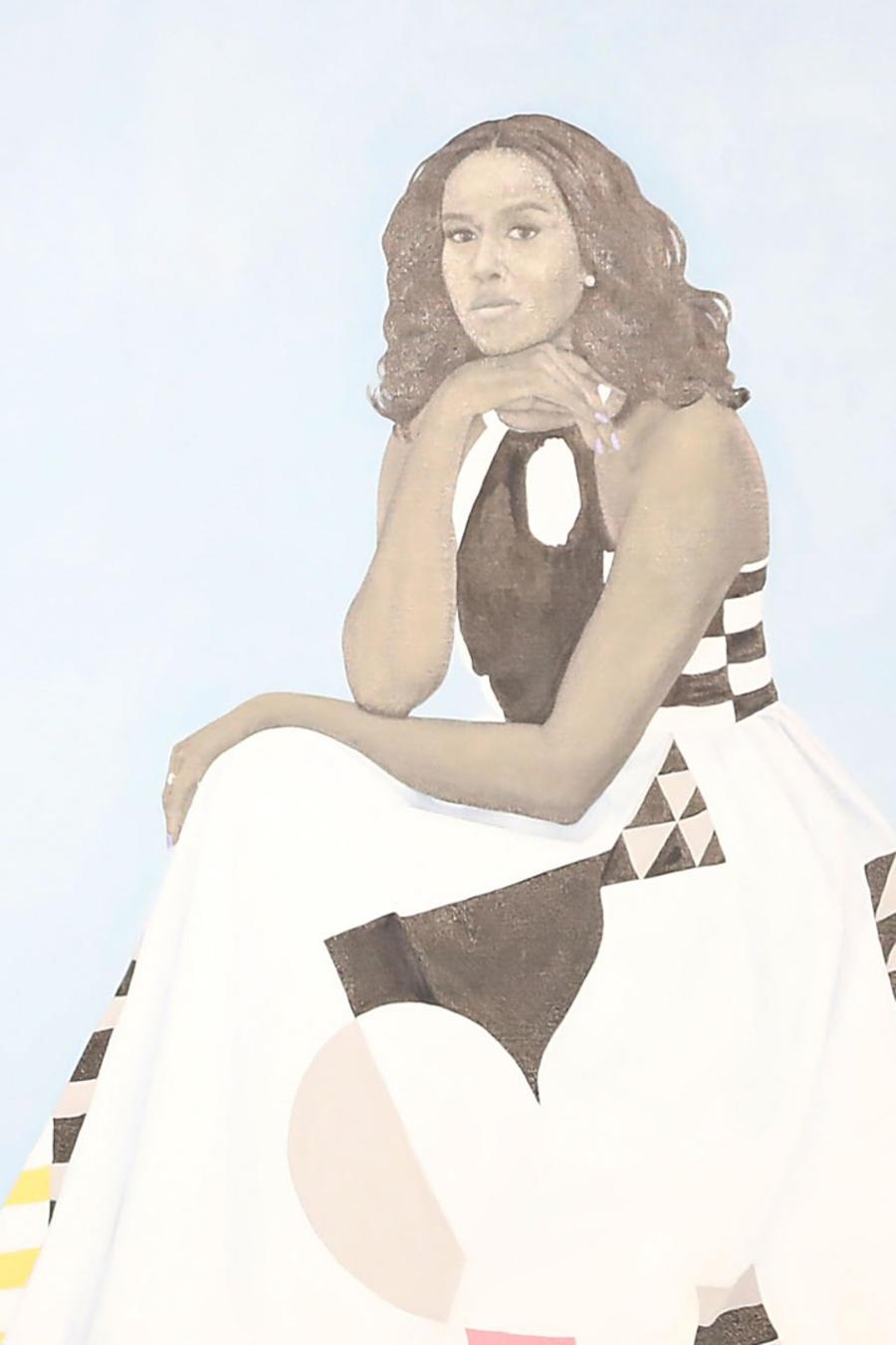 Michelle Obama y su retrato