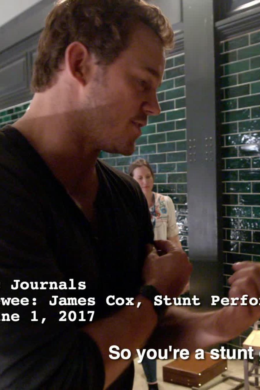 Chris Pratt Interviews  Stunt Performer, James Cox