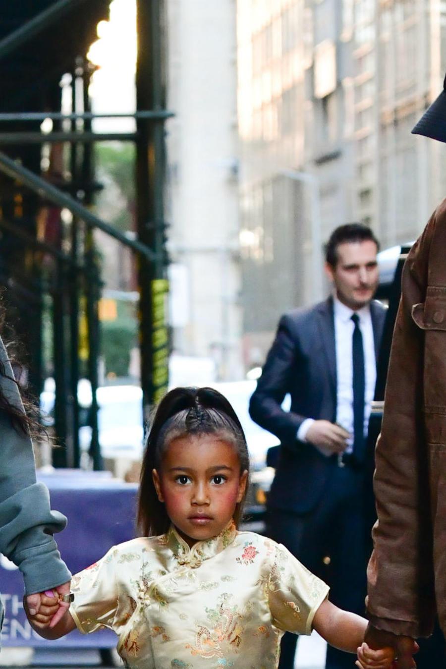 Kim Kardashian con Kanye y Nortj
