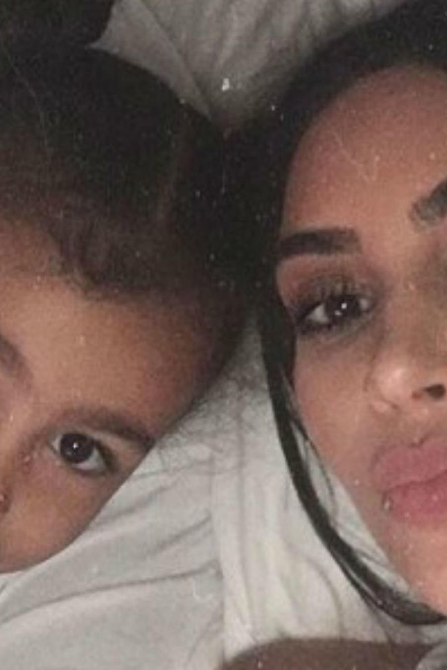 Kim Kardashian con North West