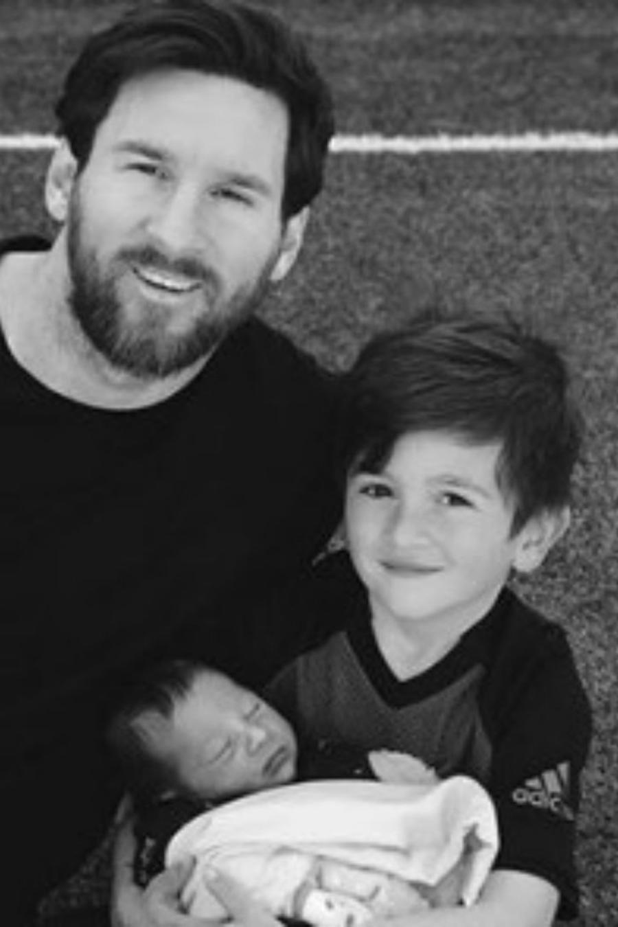 Messi con toda su familia
