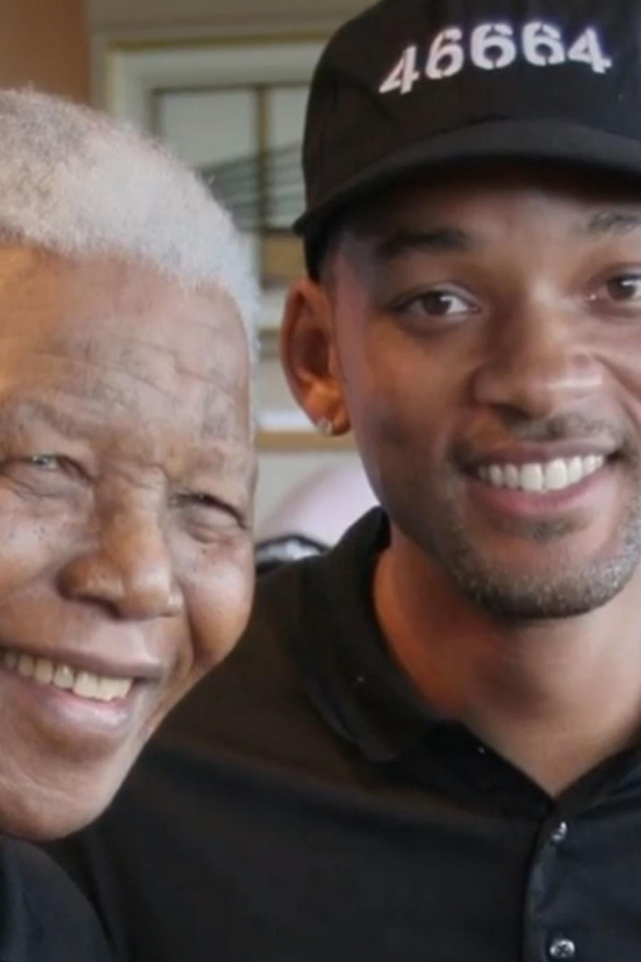 Nelson Mandela con Will Smith