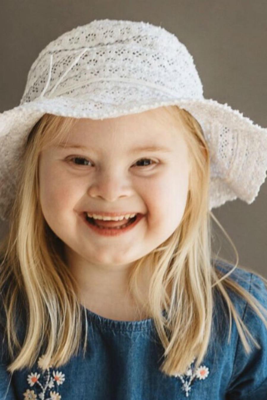 Grace modelo con Síndrome de Down