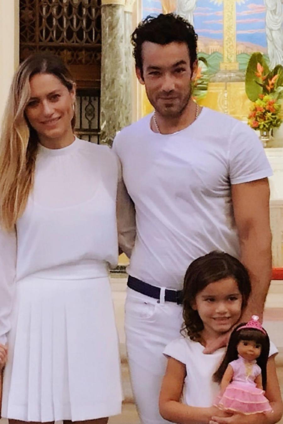 Aarón Díaz con su familia