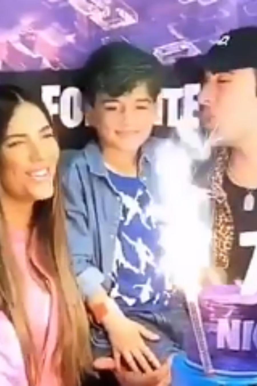 Gaby Espino y Jencarlos Canela en el cumple de su hijo Nickolas