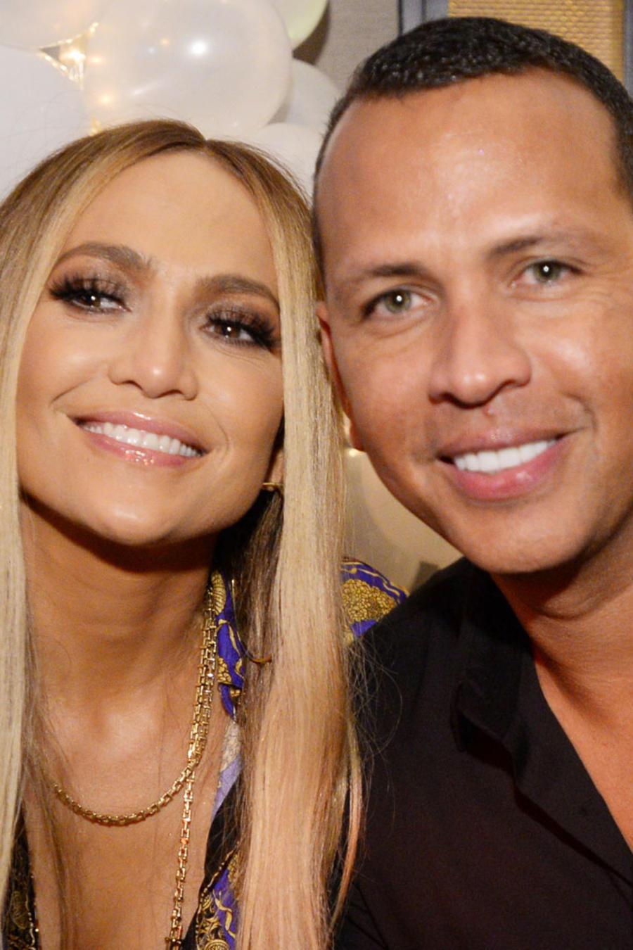 Alex Rodriguez y Jennifer Lopez en fiesta MTV VMA