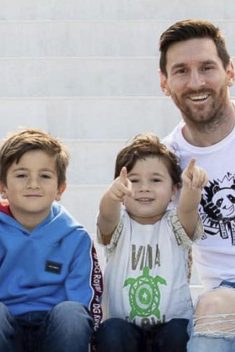 Leo Messi y su familia