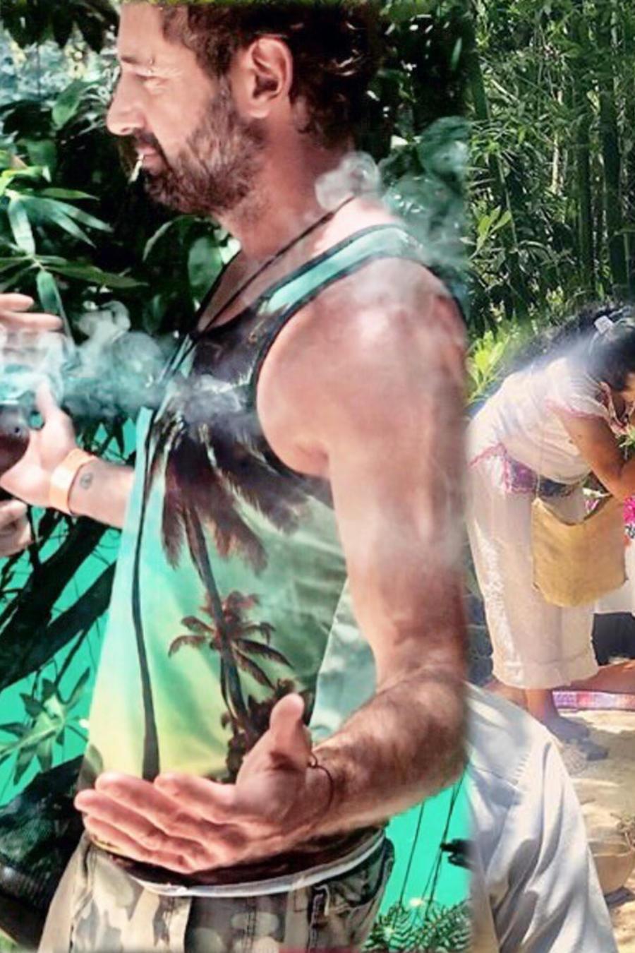Gabriel Soto ritual maya con sus hijas