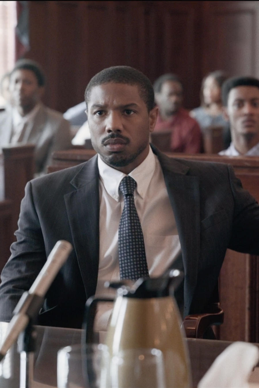 "Michael B.Jordan and Jamie Foxx in ""Just Mercy"""