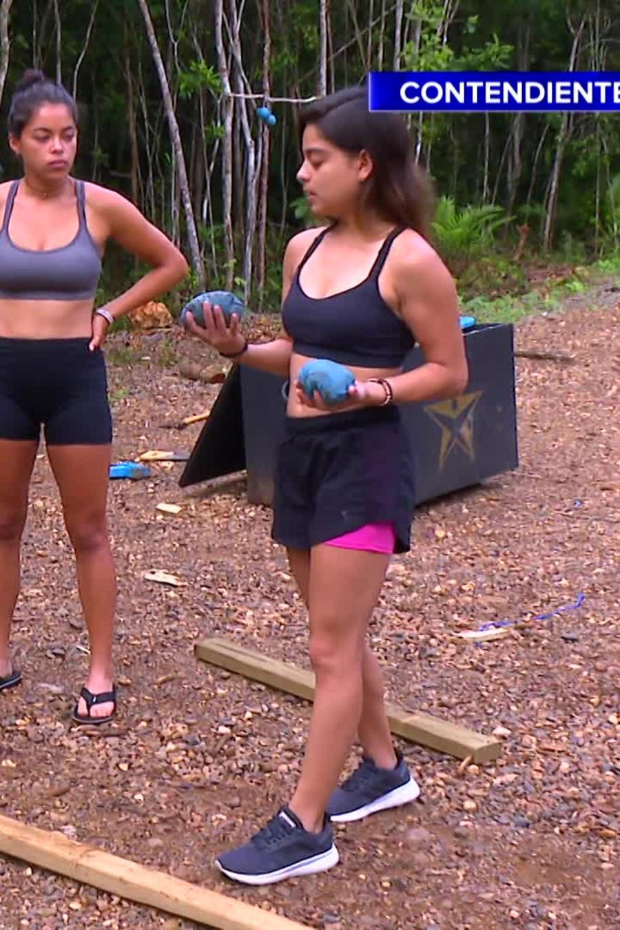 Karla Salazar practica su puntería