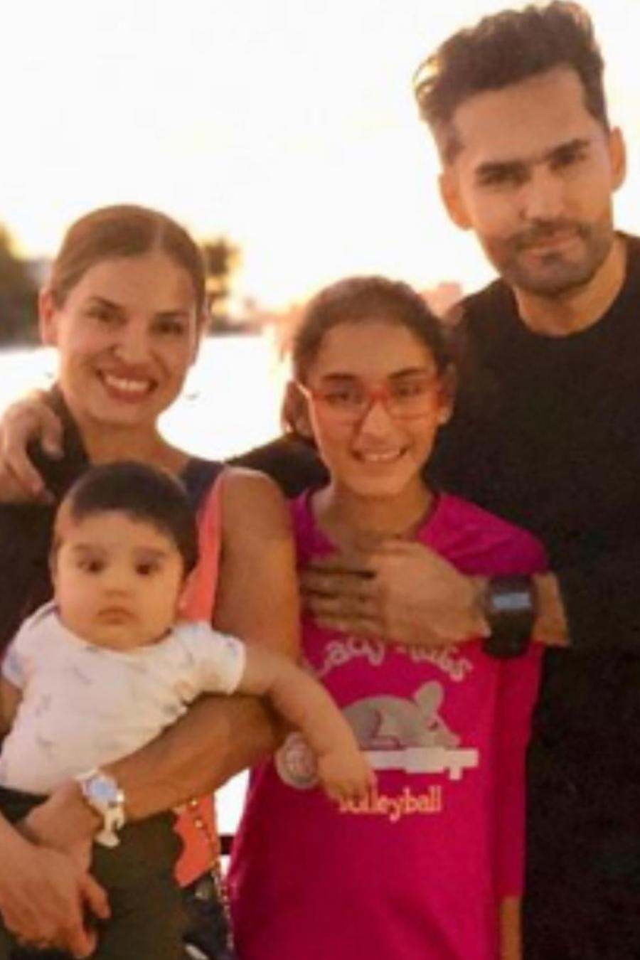 Fabián Ríos y su familia